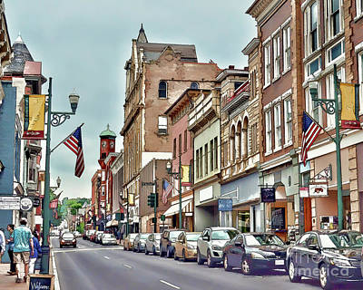 Poster featuring the photograph Historic Staunton Virginia - Art Of The Small Town  by Kerri Farley