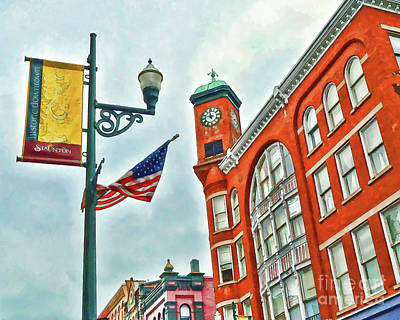 Poster featuring the photograph Historic Staunton Virginia - The Clocktower - Art Of The Small Town by Kerri Farley