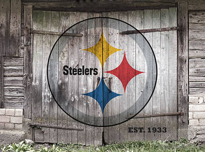 Historic Steelers Old Barn Doors Poster