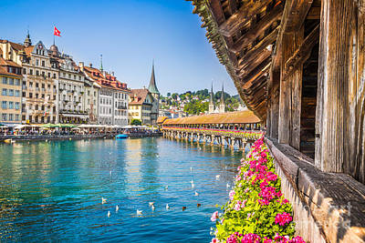 Historic Town Of Lucerne Poster