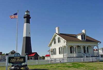 Historic Tybee Island Lighthouse II Poster by Suzanne Gaff