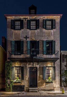 Poster featuring the photograph Historic William Vanderhorst House, Charleston by Carl Amoth