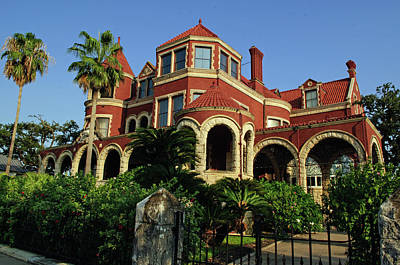 Poster featuring the photograph Historical Galveston Mansion by Tikvah's Hope