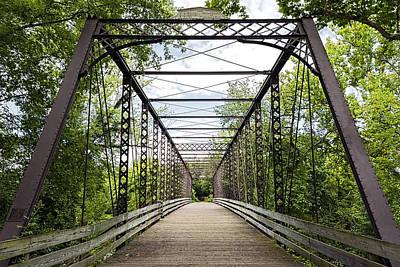 Historical Zoar Iron Bridge 1883 Poster