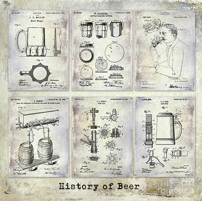 History Of Beer Patents Poster by Jon Neidert