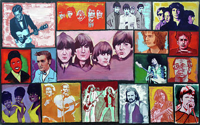 History Of Rock And Roll Poster by Duane Potosky