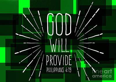 Hisworks Godart 3 Philippians 4 19 The Truth Bible Art Poster by Reid Callaway