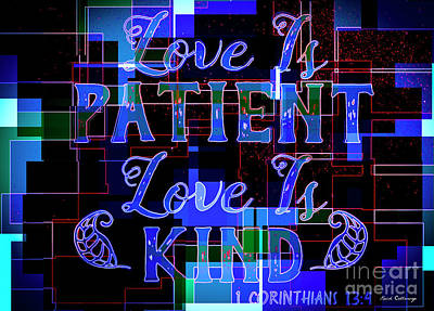 Hisworks Godart 7 1 Corinthians 13 4 The Truth Bible Art Poster