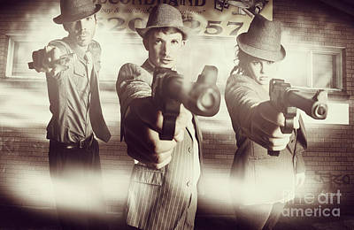 Hit Squad Gangsters Poster by Jorgo Photography - Wall Art Gallery