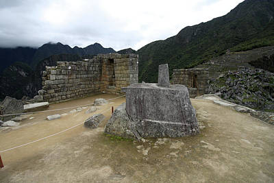 Hitching Post Of The Sun At Machu Picchu Poster