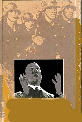 Hitler Giving Impassioned Speech Circa 1934 Color Added 2016 Poster