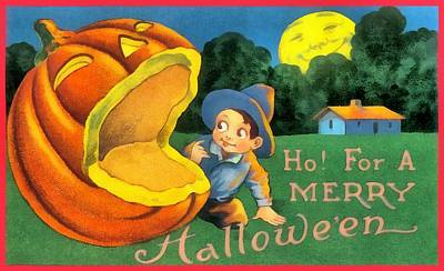 Ho For A Merry Halloween Poster by Unknown