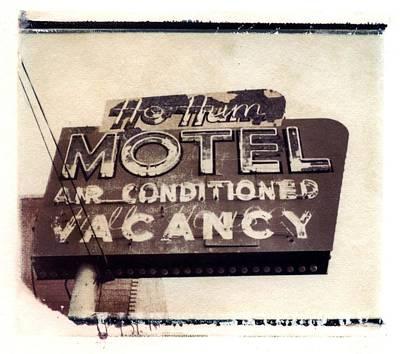 Ho Hum Motel Polaroid Transfer Poster by Jane Linders
