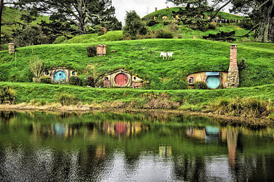 Hobbit By The Lake Poster