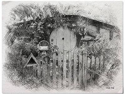 Hobbit's Front Gate Illustration Poster