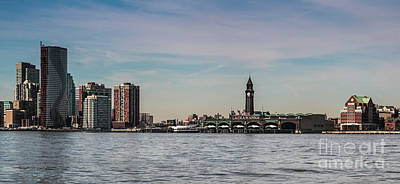 Hoboken New Jersey Skyline Poster by Thomas Marchessault