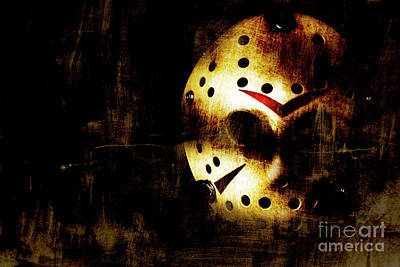 Hockey Mask Horror Poster by Jorgo Photography - Wall Art Gallery