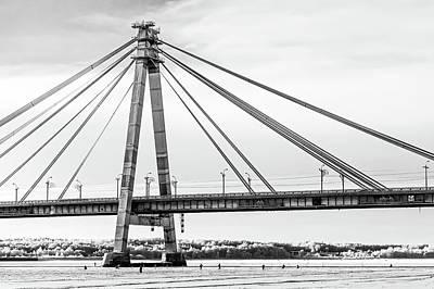 Hockey Under The Bridge Poster by Ant Rozetsky