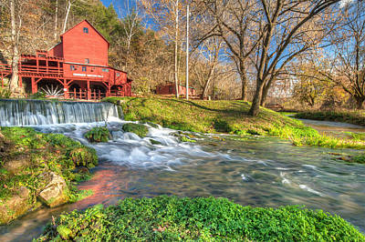 Hodgson Mill Landscape - Missouri Poster by Gregory Ballos