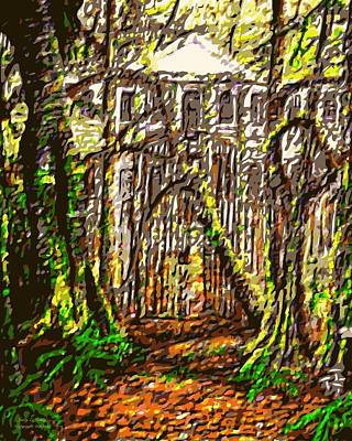 Hoffmans Mansion Original Sold Prints Available Poster by Larry Lamb