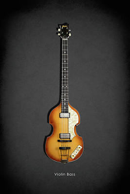 Hofner Violin Bass 62 Poster by Mark Rogan