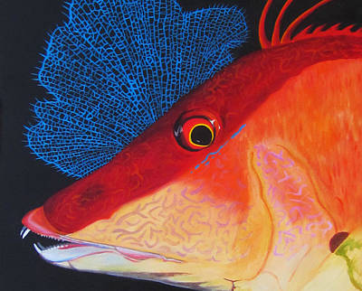 Hog Fish Poster by Anne Marie Brown