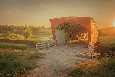 Poster featuring the photograph Hogback Covered Bridge by Susan Rissi Tregoning