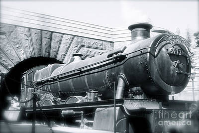 Hogwarts Express Black And White Poster