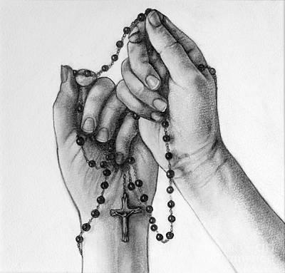 Holding A Cross Poster by Gabriela Junosova