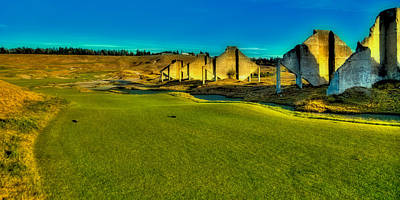 Hole #18 At Chambers Bay Poster by David Patterson