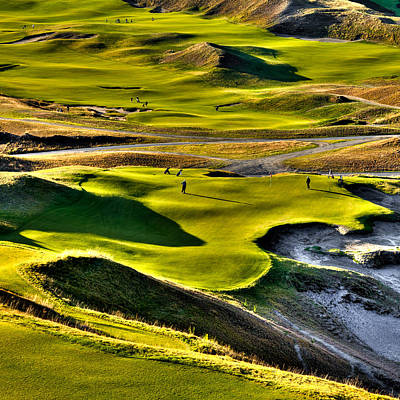 Hole #9 At Chambers Bay Poster by David Patterson