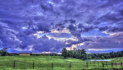 Hole In The Sky Seeing Beyond Copelan Farm Art Poster by Reid Callaway