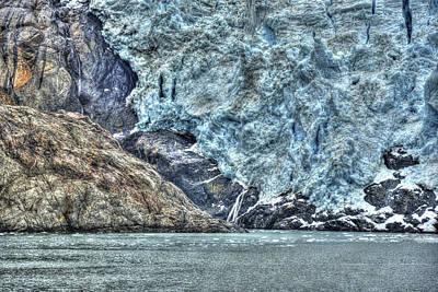 Holgate Glacier Hdr Poster