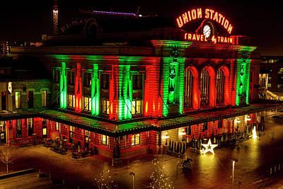 Holiday Lights At Union Station Denver Poster