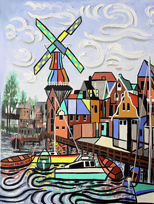 Holland Not Just Tulips And Windmills  Poster by Anthony Falbo
