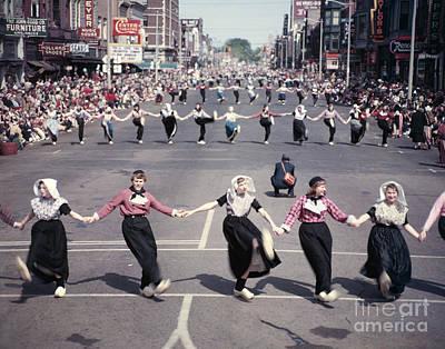 Holland Tulip Parade 1953 Poster