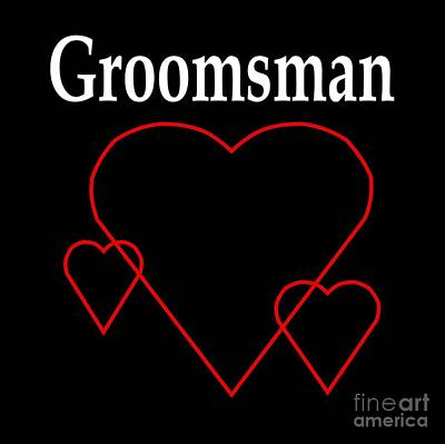 Hollow Hearts Groomsman Poster by Frederick Holiday