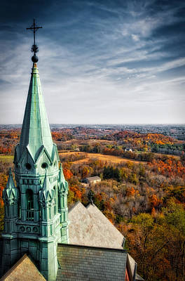 Holly Hill Church Steeple  - Wisconsin Poster