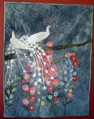 Holly Hocks Poster by Rhoda Forbes