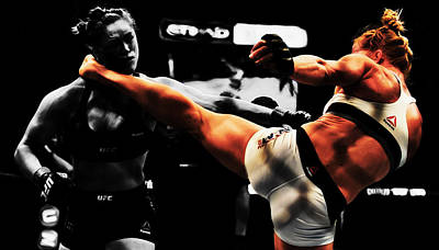 Holly Holm And Ronda Rousey 1b Poster by Brian Reaves