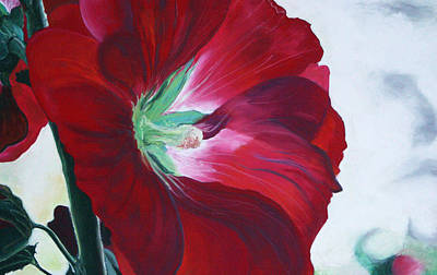 Hollyhock Poster by Jane Autry