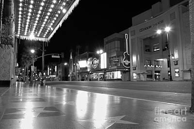 Hollywood Blvd At 3am Poster