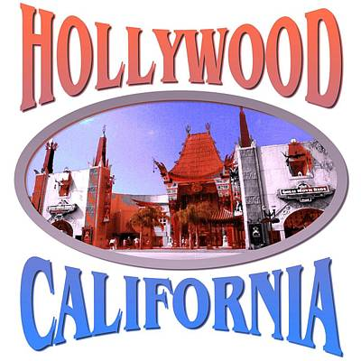 Hollywood California Design Poster