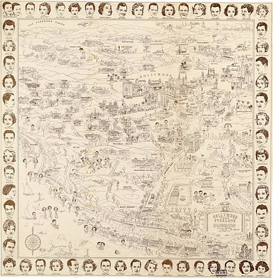 Hollywood Map To The Stars 1937 Poster