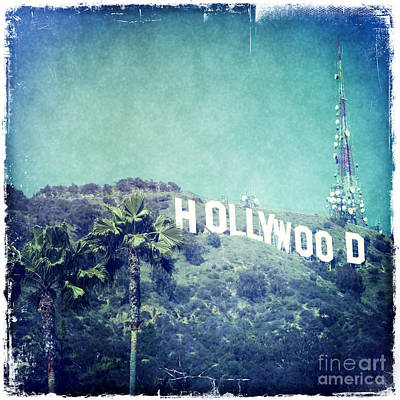 Hollywood Sign Poster by Nina Prommer