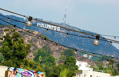 Poster featuring the photograph Hollywood Sign On The Hill 1 by Micah May