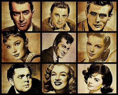 Hollywood Stars Poster by Esoterica Art Agency
