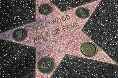 Hollywood Walk Of Fame Poster by Kyle Hanson