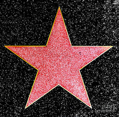 Hollywood Walk Of Fame Star Poster