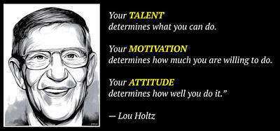 Holtz Quote Poster by Greg Joens